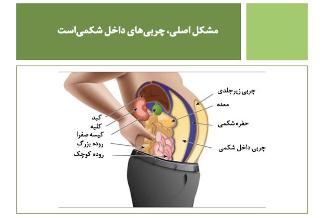 لاغری شکم و پهلو و درمان چاقی